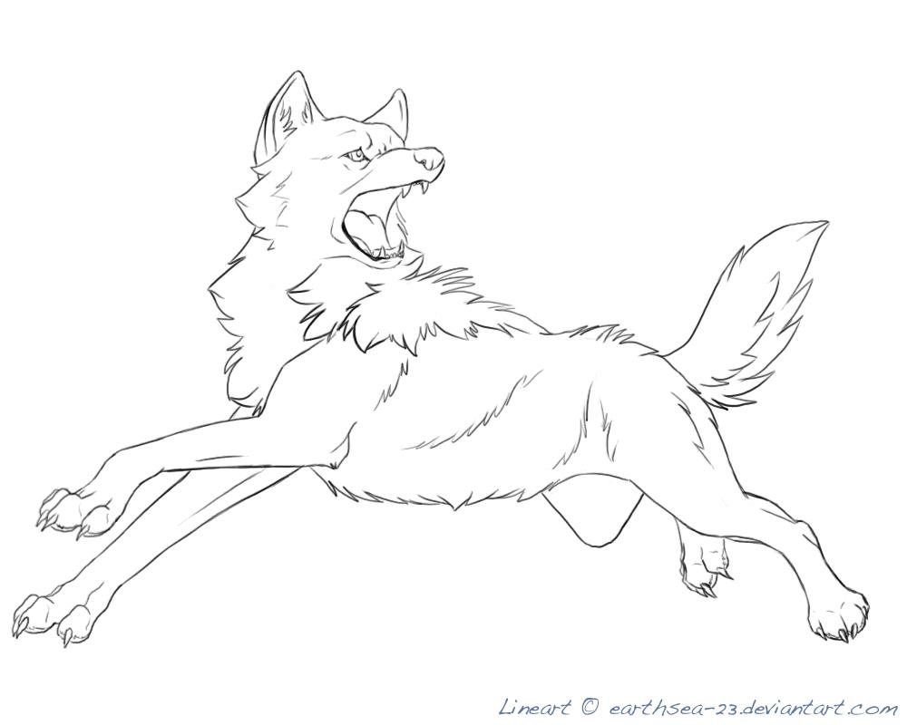 1000x800 Free Wolf Lineart by earthsea 23 on DeviantArt