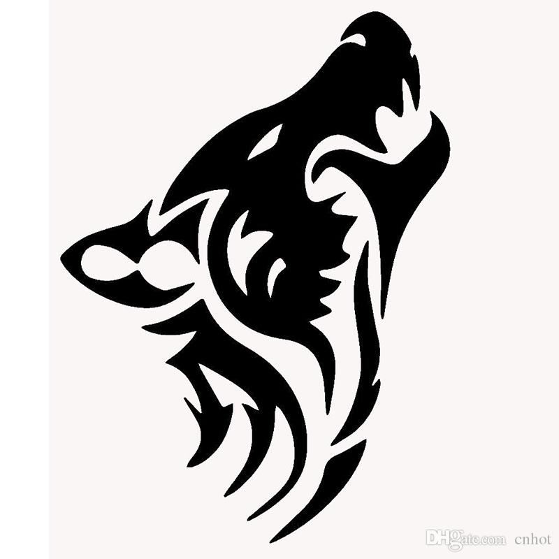 800x800 2018 Length50cm Wolf Silhouette Classic Car Sticker For Cars Side