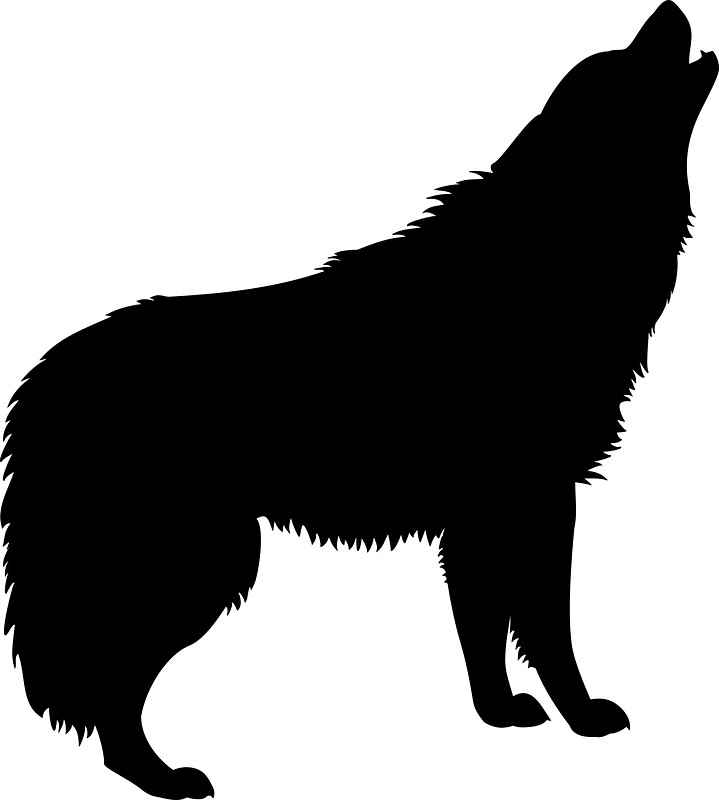 719x800 Howling Wolf Silhouette Stickers by BillNyeIsDope Redbubble
