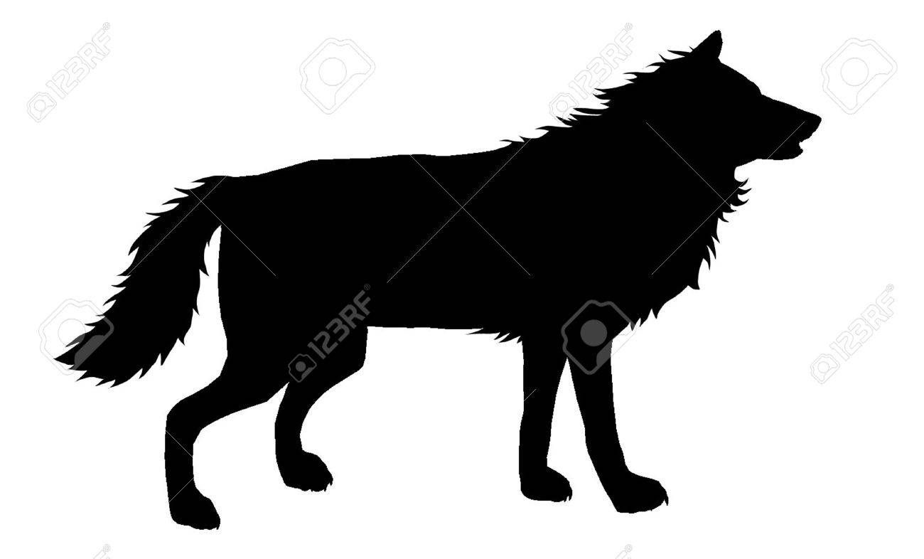 1300x786 Wolf Silhouette 5 Royalty Free Cliparts, Vectors, And Stock