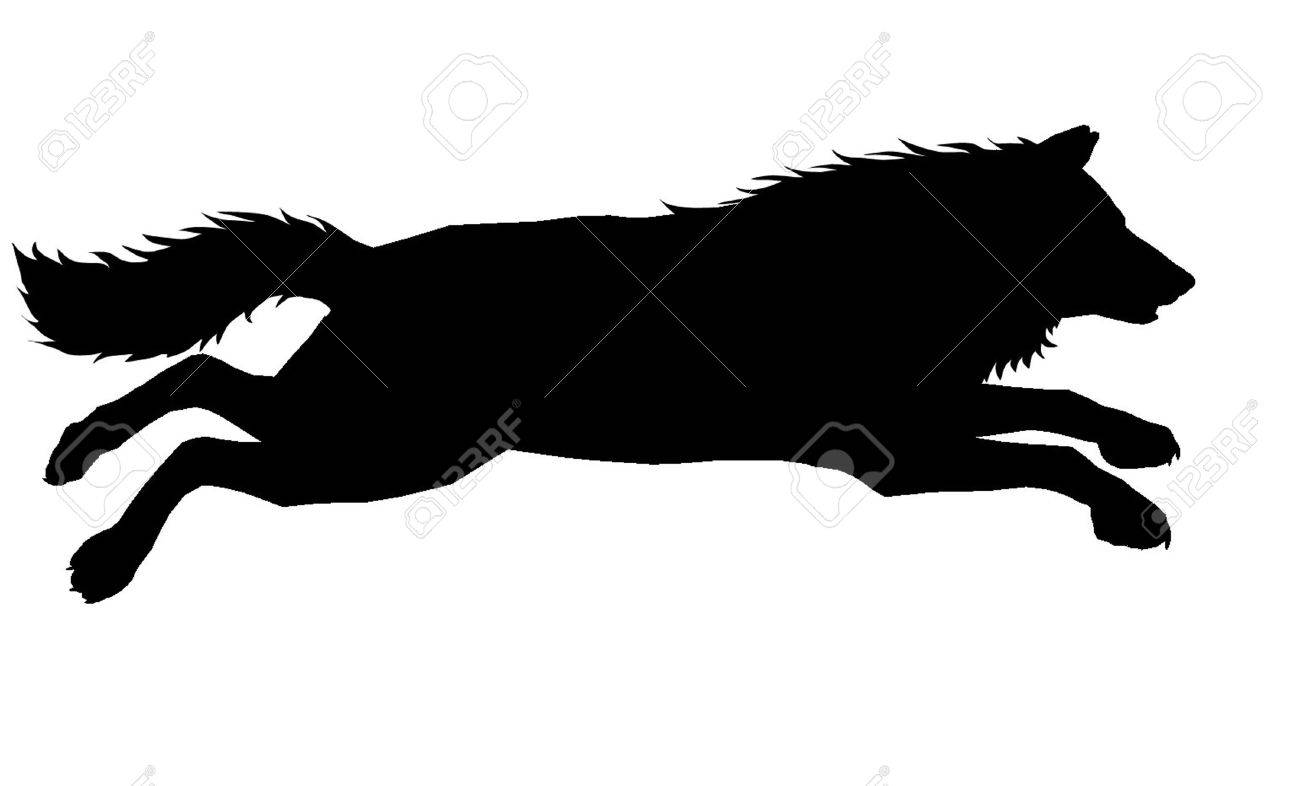 1300x786 Wolf Silhouette 7 Royalty Free Cliparts, Vectors, And Stock