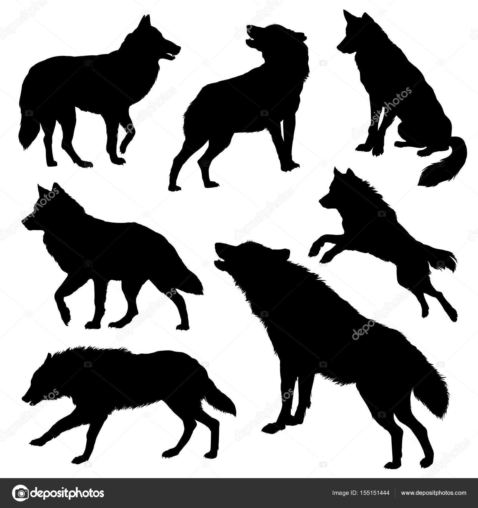 1600x1700 Wolf Silhouette Set