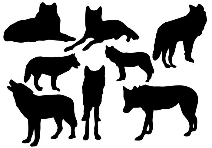 700x490 Free Wolf Silhouette Vector
