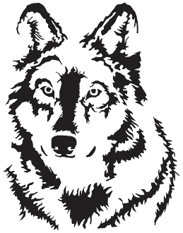 259x330 New Custom Screen Printed T shirt Wolf Silhouette Animal Small