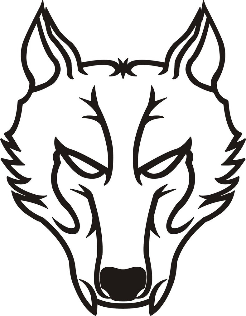 789x1013 Tribal Wolf Drawings Drawing A Howling Wolf Silhouette
