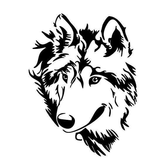 570x570 Wolf Head Graphics SVG Dxf EPS Png Cdr Ai Pdf Vector Art Clipart