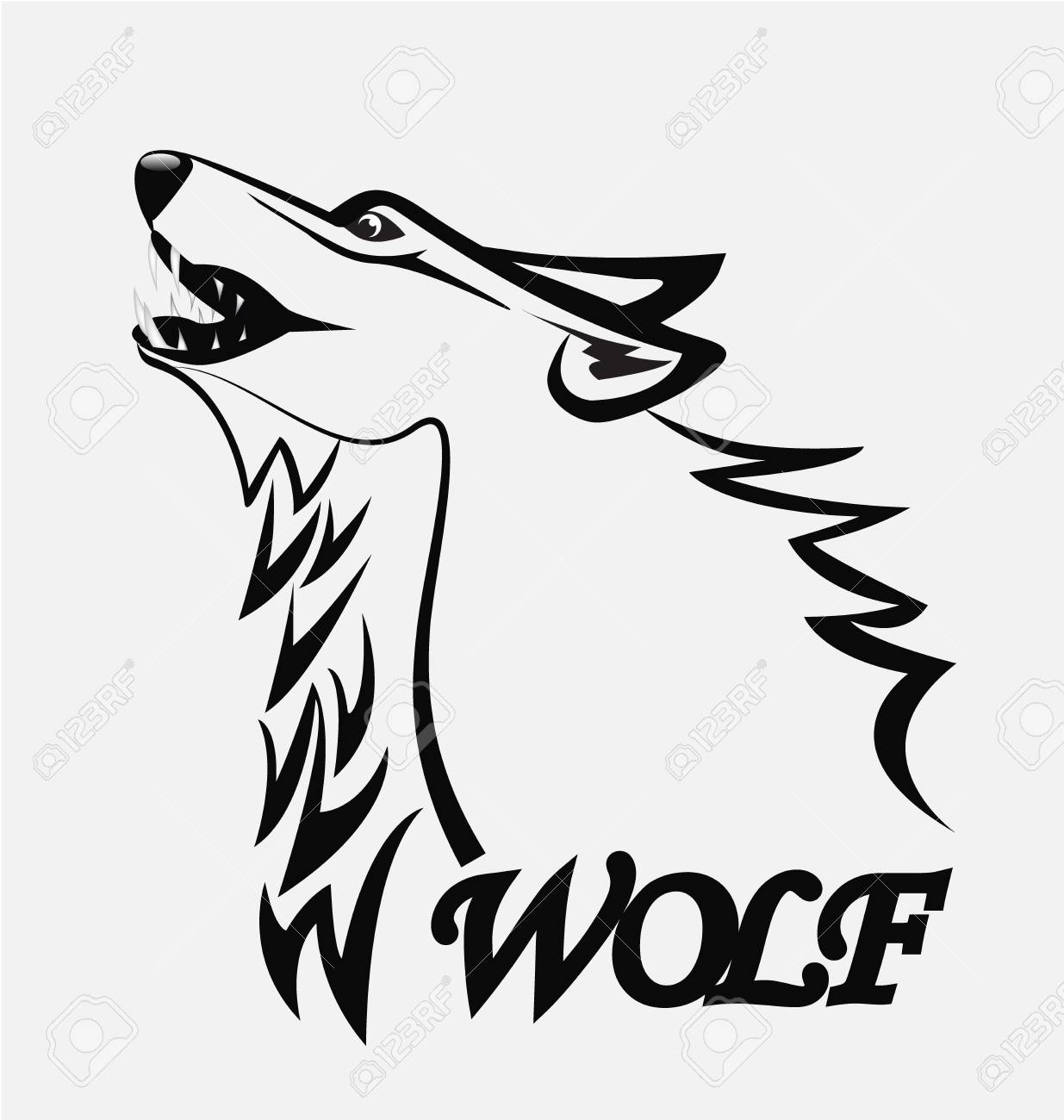 1235x1300 Wolf Silhouette Vector Image Royalty Free Cliparts, Vectors, And