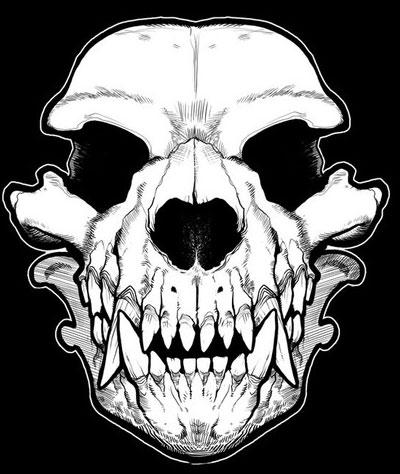 400x474 Werewolf Skull Bandana