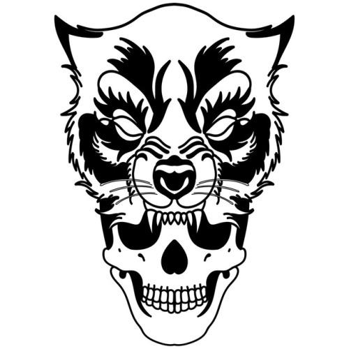 500x500 wolf skull tattoo Tumblr