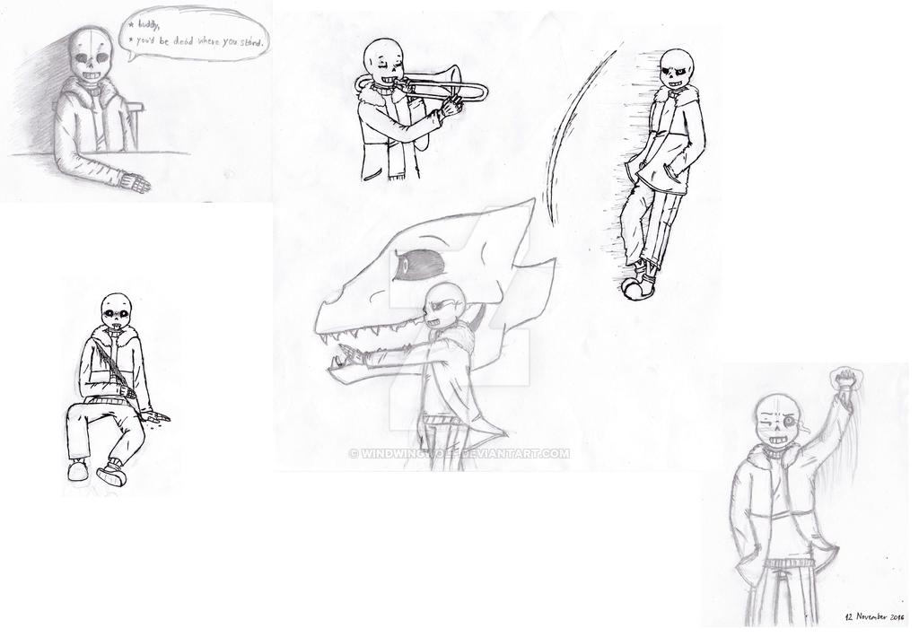 1024x710 Drawing Practice Sans the skeleton by WindWingWolf on DeviantArt