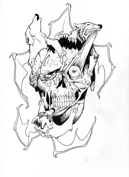 428x589 Wolfskull (Inks)(Unfinished) By Cdug