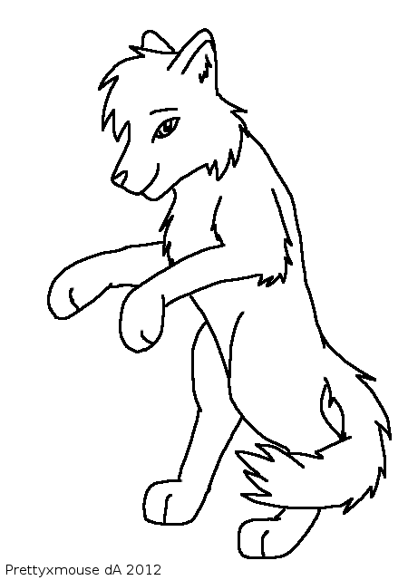 Wolf Standing Drawing At Getdrawingscom Free For Personal Use