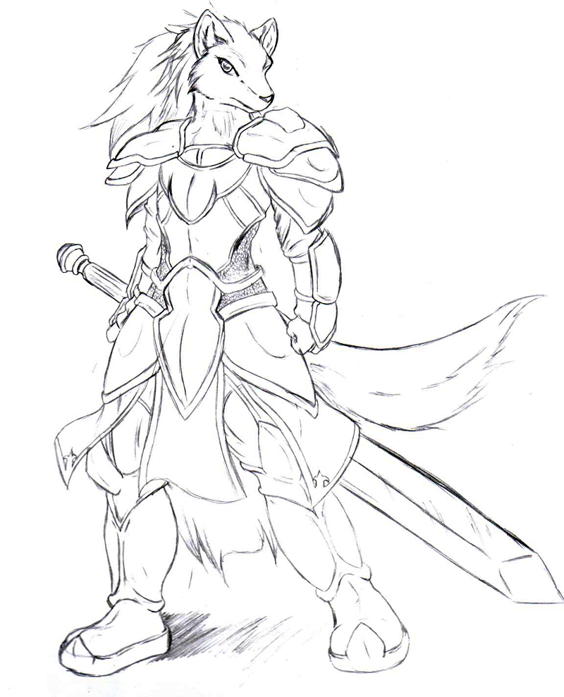 800x989 Armored Wolf By Suirano