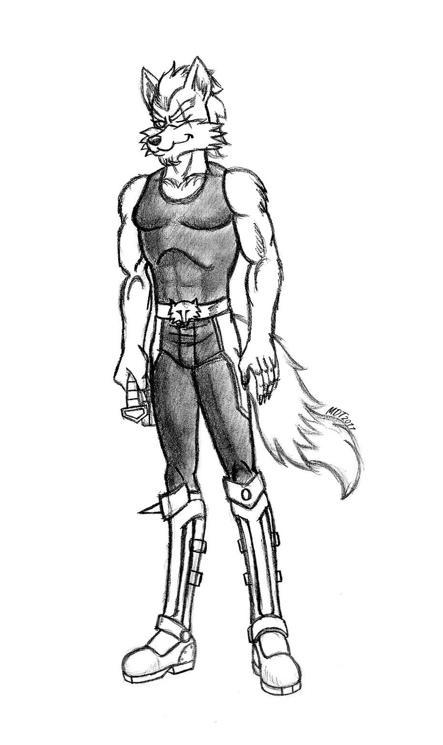 900x1512 Wolf O'Donnell Quick Sketch By Mdtartist83