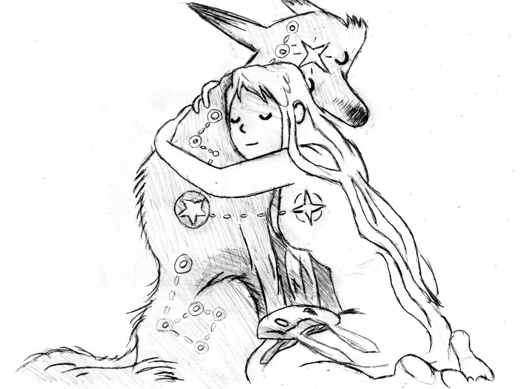 1039x769 Wolf And Bunny By N3ur0b