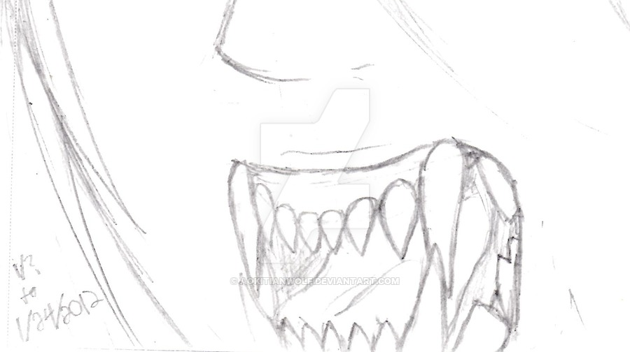 900x504 Wolf Teeth In Human Mouth She's No Human! By Aokitianwolf