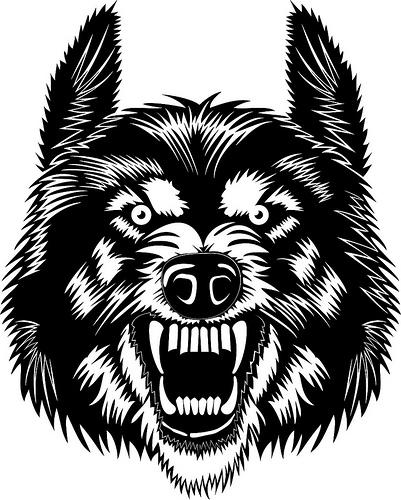 401x500 Wolf Teeth Vector