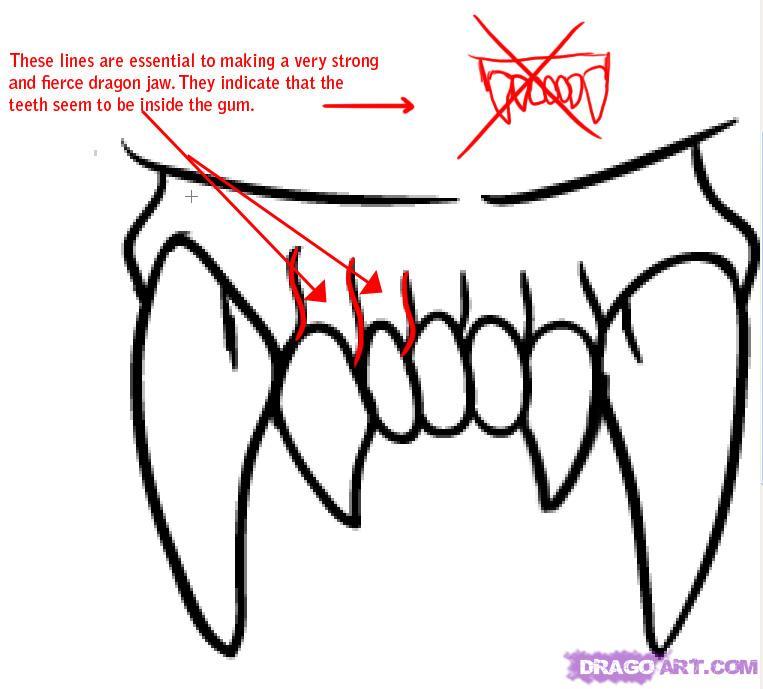 763x689 Drawn Wolf Mouth