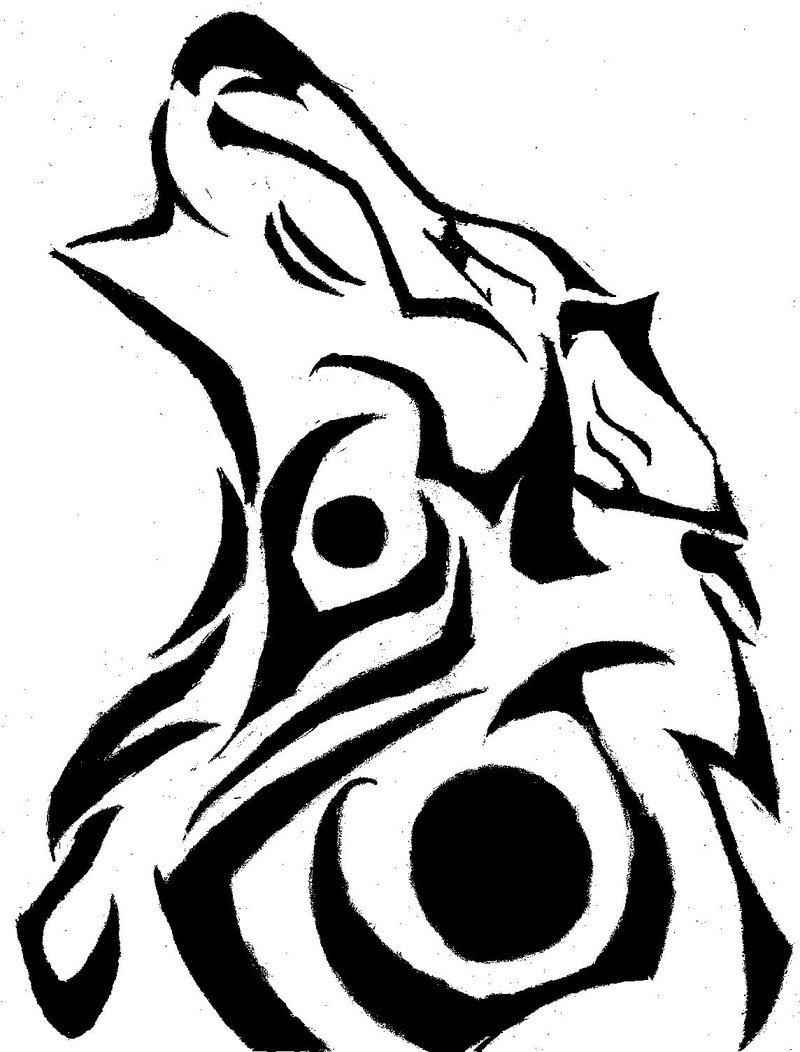 Wolf Tribal Drawing At Getdrawings