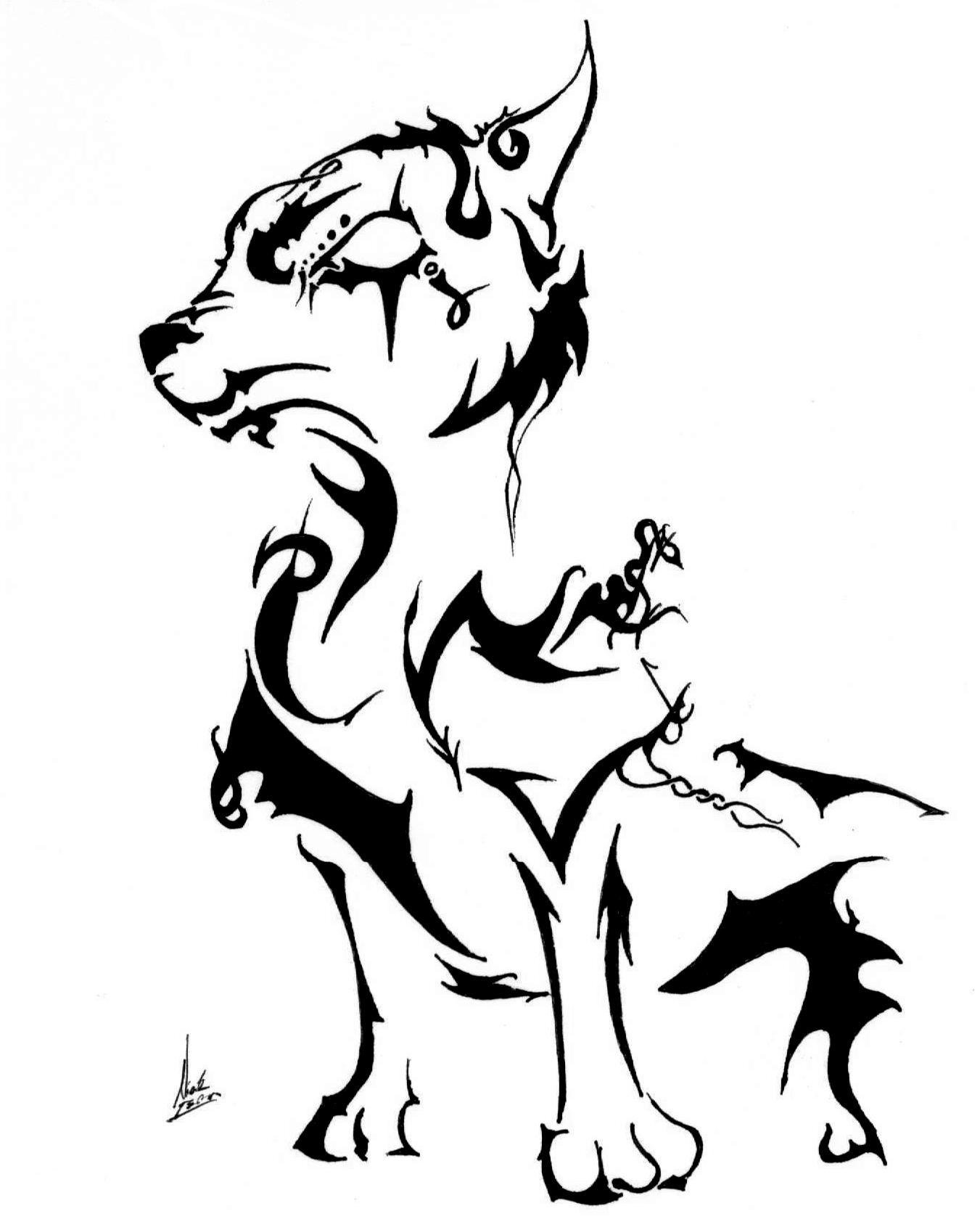 Wolf Tribal Drawing at GetDrawings com | Free for personal