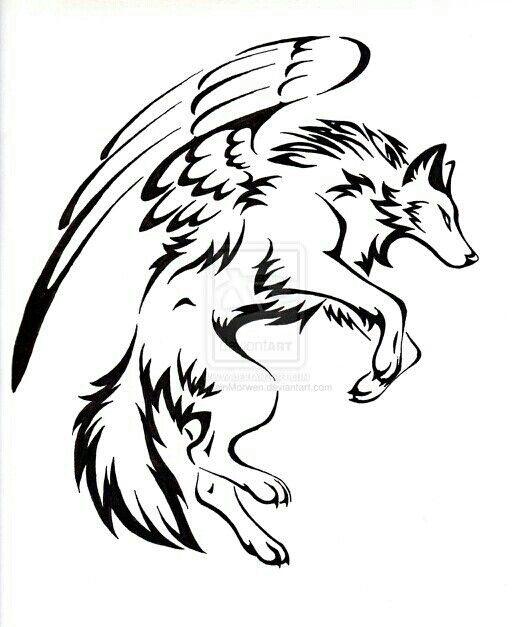 512x627 Wolf With Wings Wolves With Wings Wolf And Drawings