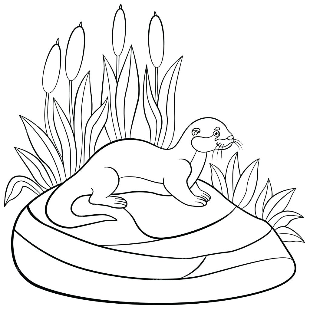 1024x1024 Coloring Sea Otter Coloring Pages Wolf With Wings Drawing Color