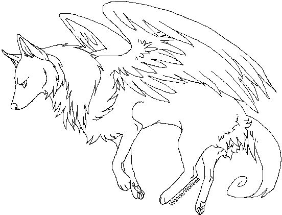 552x421 Drawn Wings Coloring Page