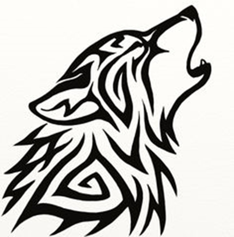 987x999 Wolf Drawing