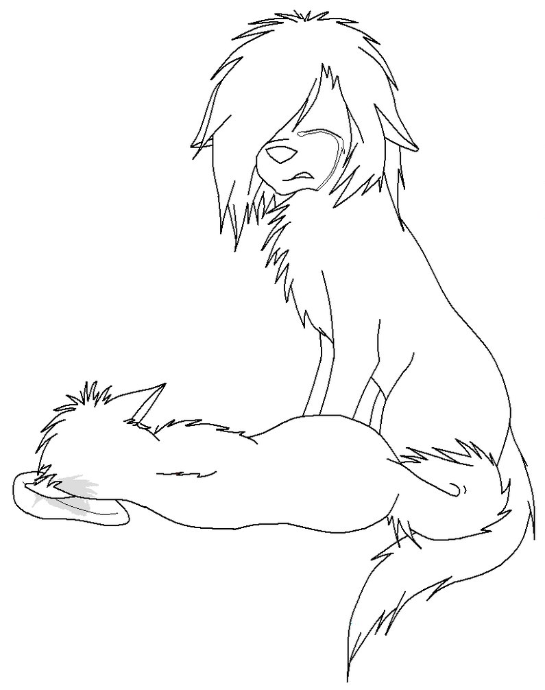 795x1006 Wolf Lineart By Cookie Stalker