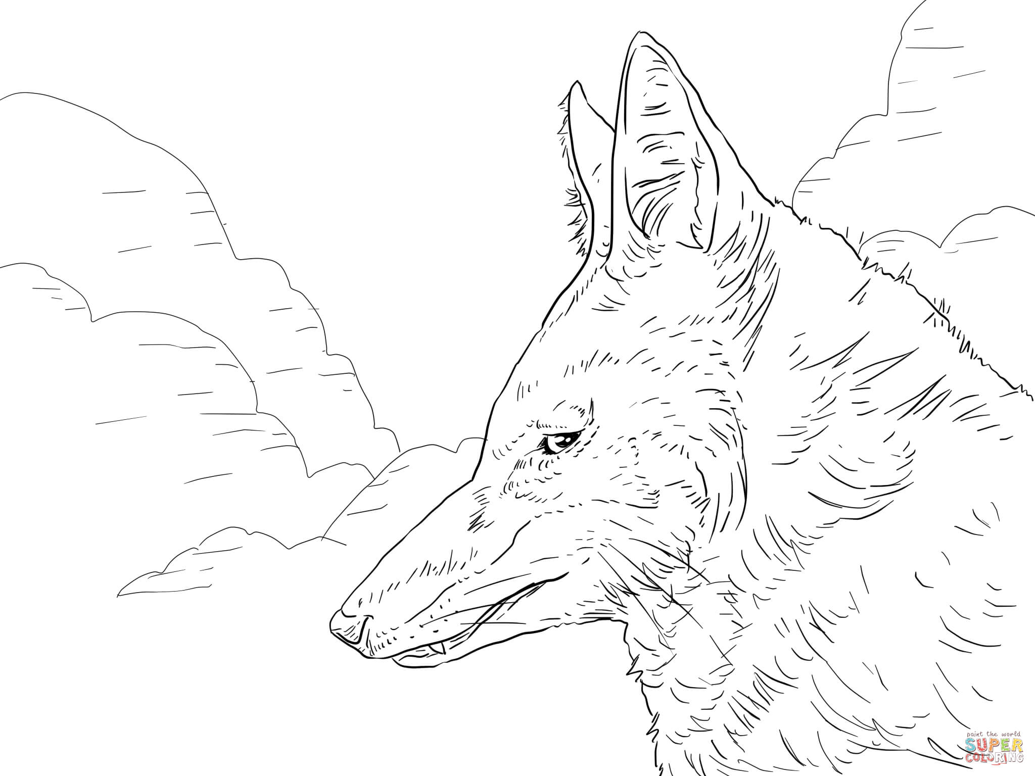 2048x1536 Wolf Coloring Pages Free Coloring Pages