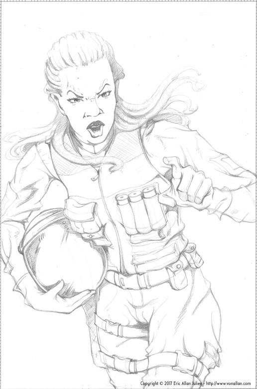 516x779 Wolf's Head First Issue Pencil Roughs For Page One Von Allan'S
