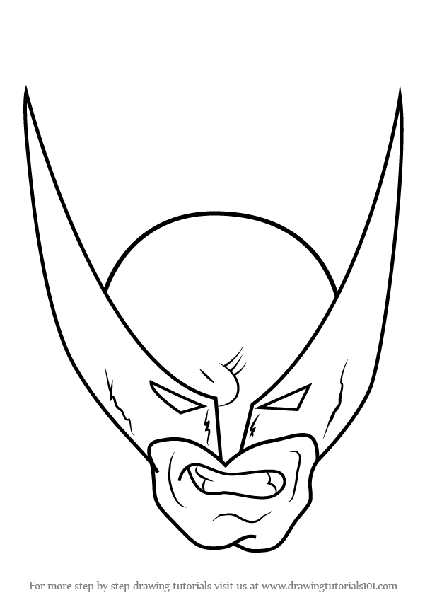 601x848 Learn How To Draw Wolverine Head (Wolverine) Step By Step