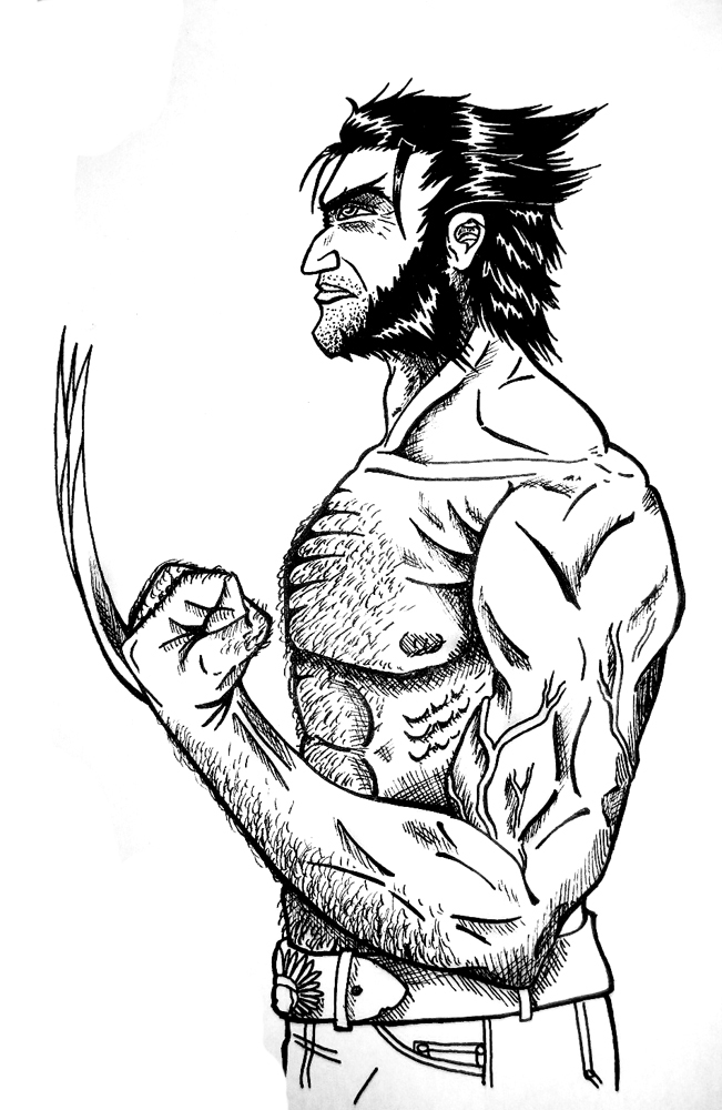 651x1000 Logan Wolverine Sketch By Valorxx