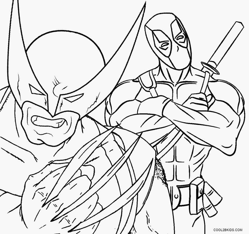 1050x987 Printable Wolverine Coloring Pages For Kids Cool2bkids