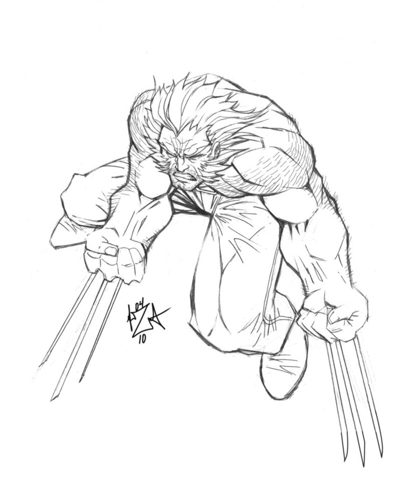 838x953 Wolverine Pencils By Alexamezcua
