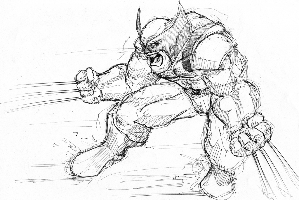 1024x687 Drawings Of Wolverine Drawings Misc Nigel Chen At Coroflot