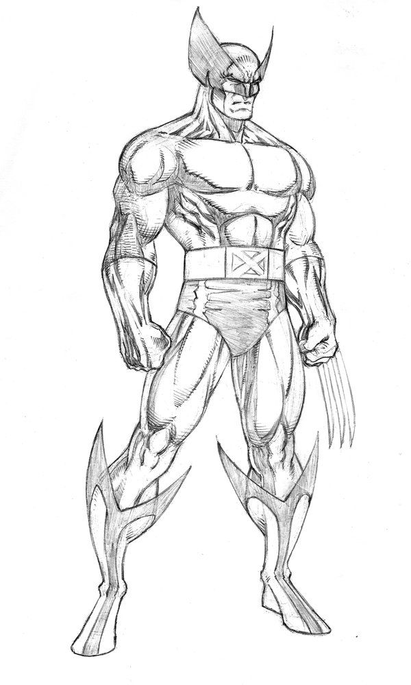 600x999 How To Draw Wolverine Full Body How To Draw Anime Boys Full Body