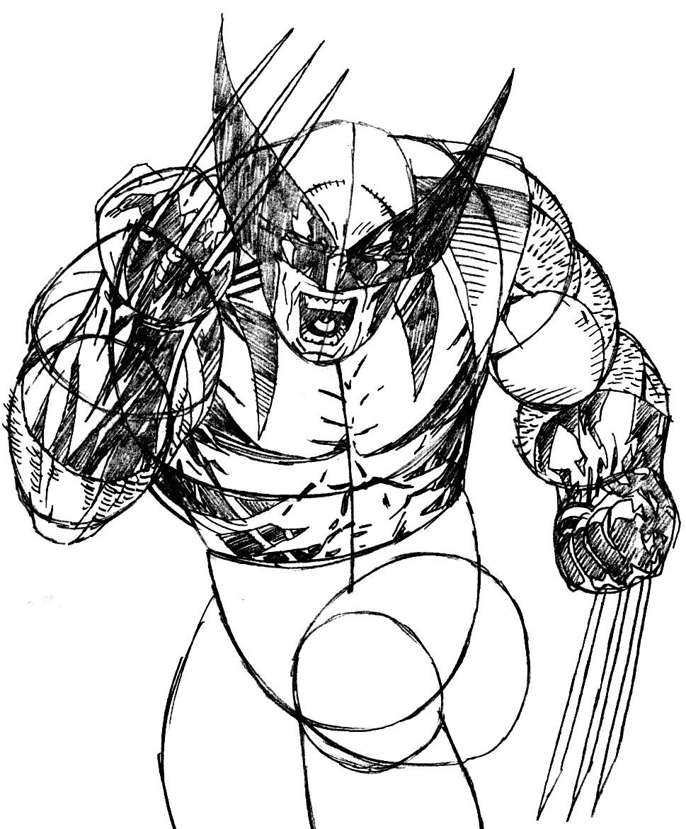 969x1170 How To Draw Wolverine From Marvel's X Men Superhero Team Drawing