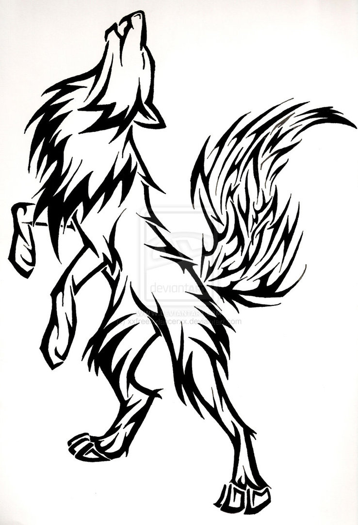 738x1083 Drawing Wolf Howling Clipart
