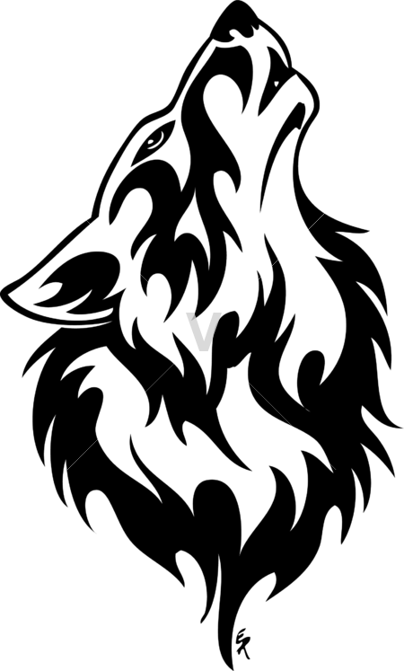 450x747 Wolf Howling Black And White Drawing