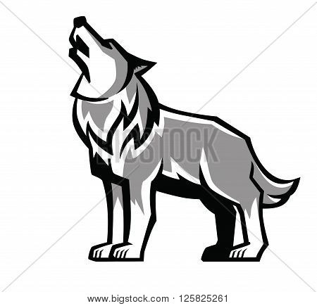450x435 Wolf Howling Images, Illustrations, Vectors