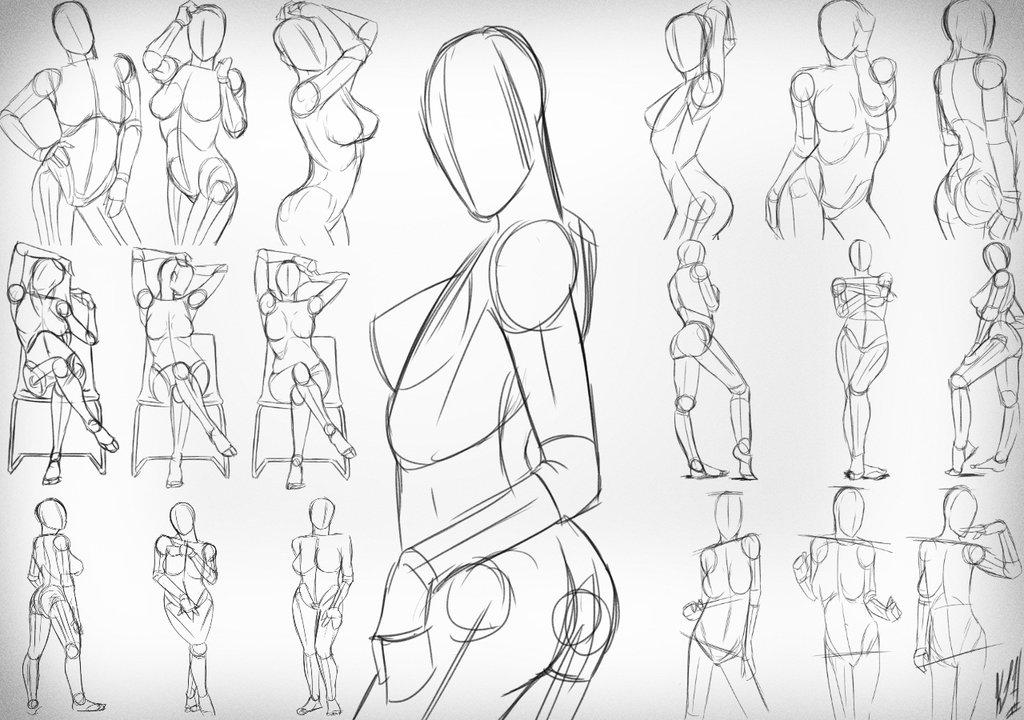 1024x720 Female Sketching 1 By Noblecrimson