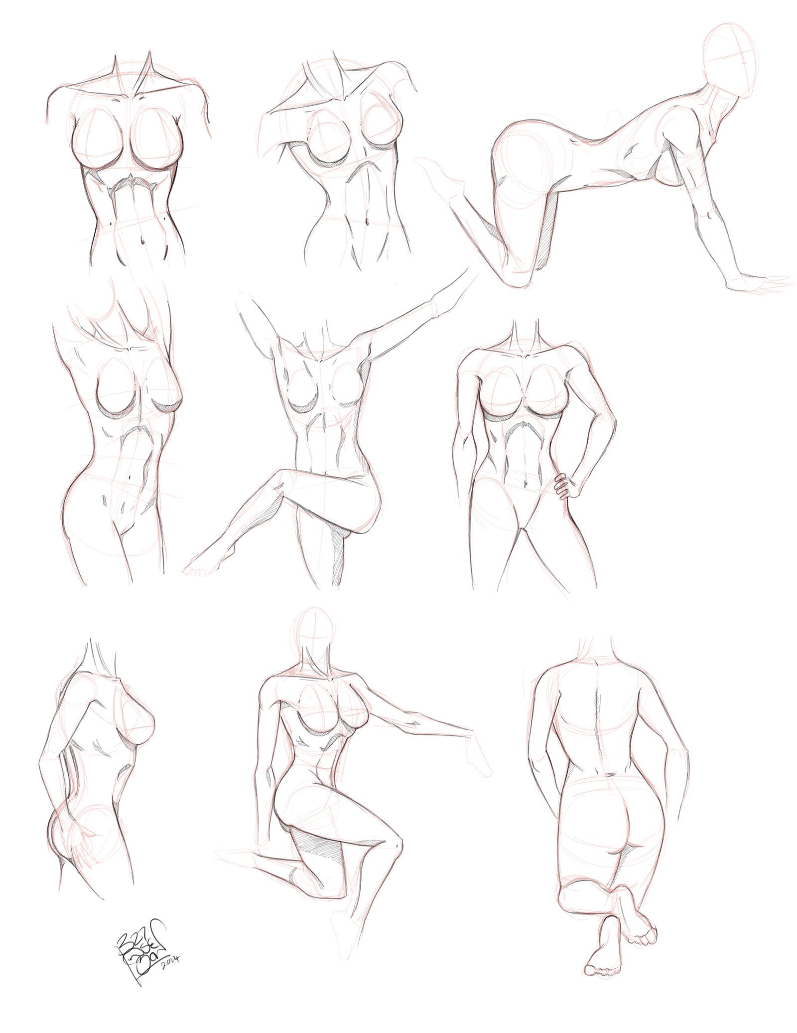 1600x2072 Female Body Sketch By Lloydbridgeman