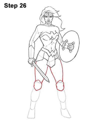 386x500 How To Draw Wonder Woman (Full Body)