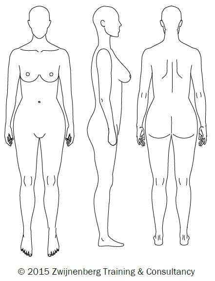 441x576 Basic Body Drawing For Measurements Draft 2 Zwijnenberg