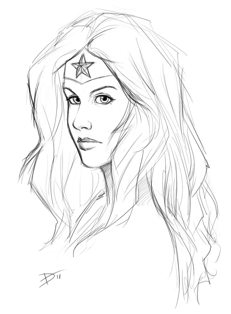 778x1054 Pen, Paper, Amp Pixels Wonder Woman Sketch