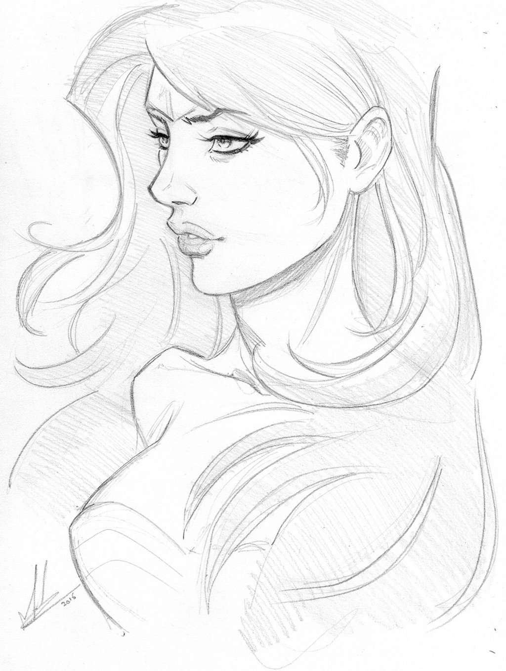 1024x1356 Wonder Woman Sketch By Marc F Huizinga