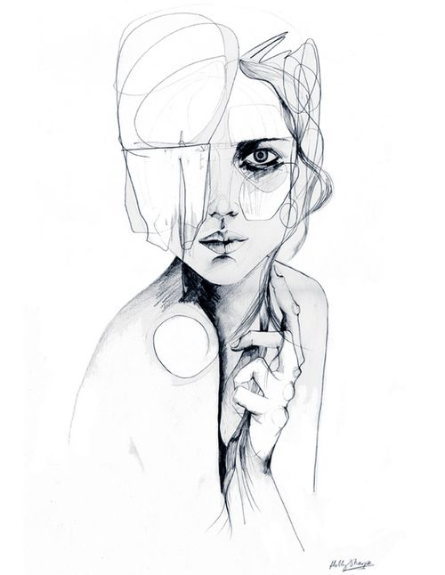 Woman Eyes Drawing