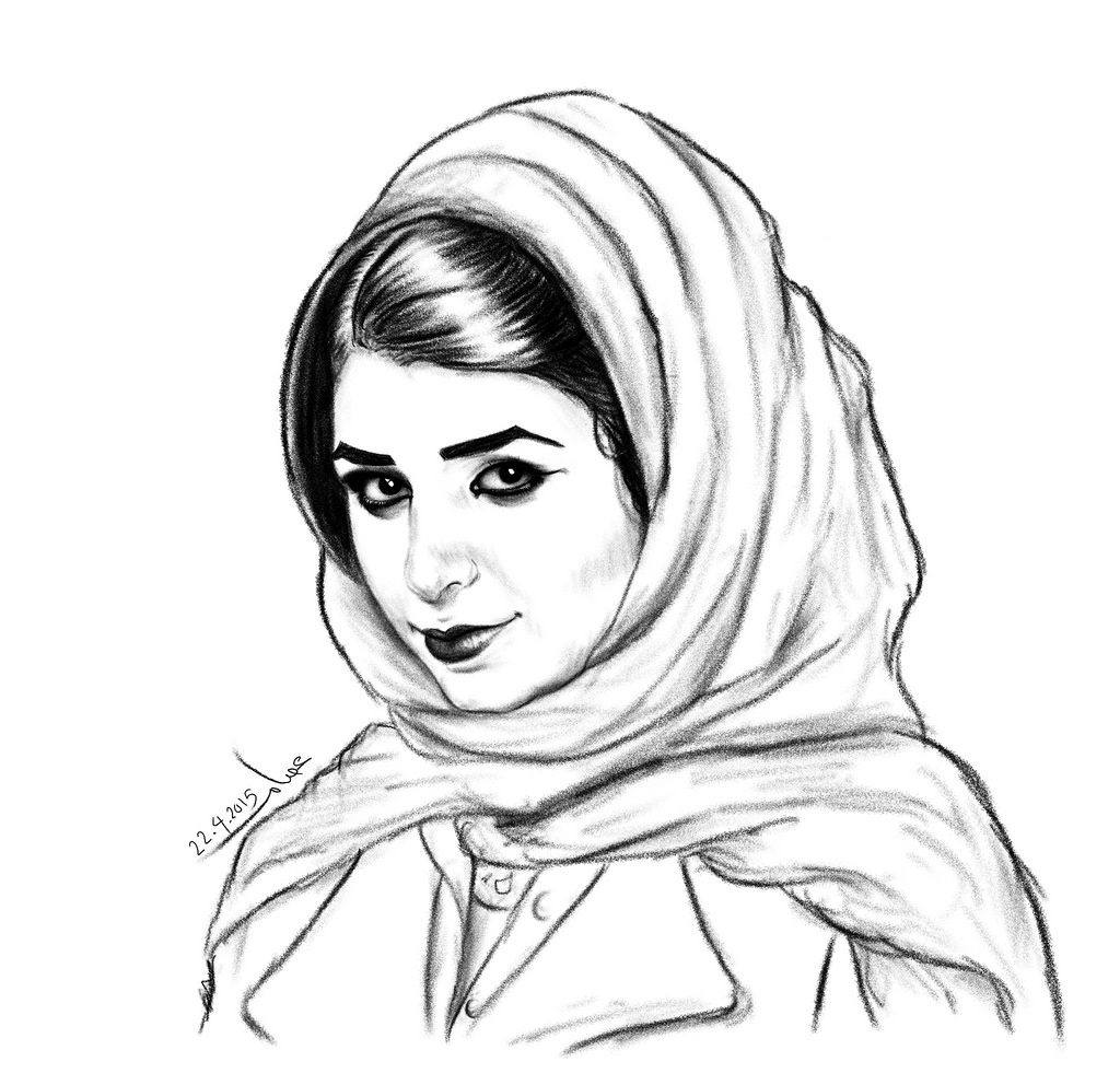 1024x992 Pencil Drawings Of Woman In Hijab Pencil Drawing Of Muslim Girls