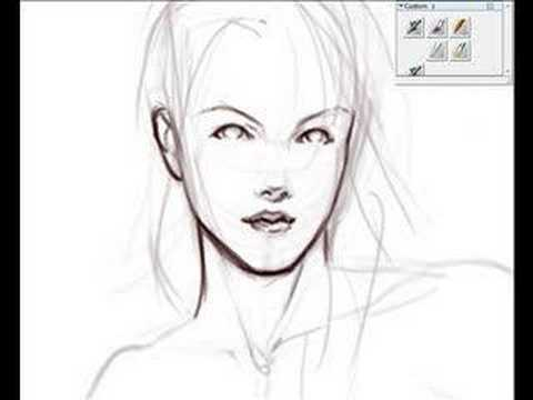 480x360 Digital Speed Sketching Female Figure